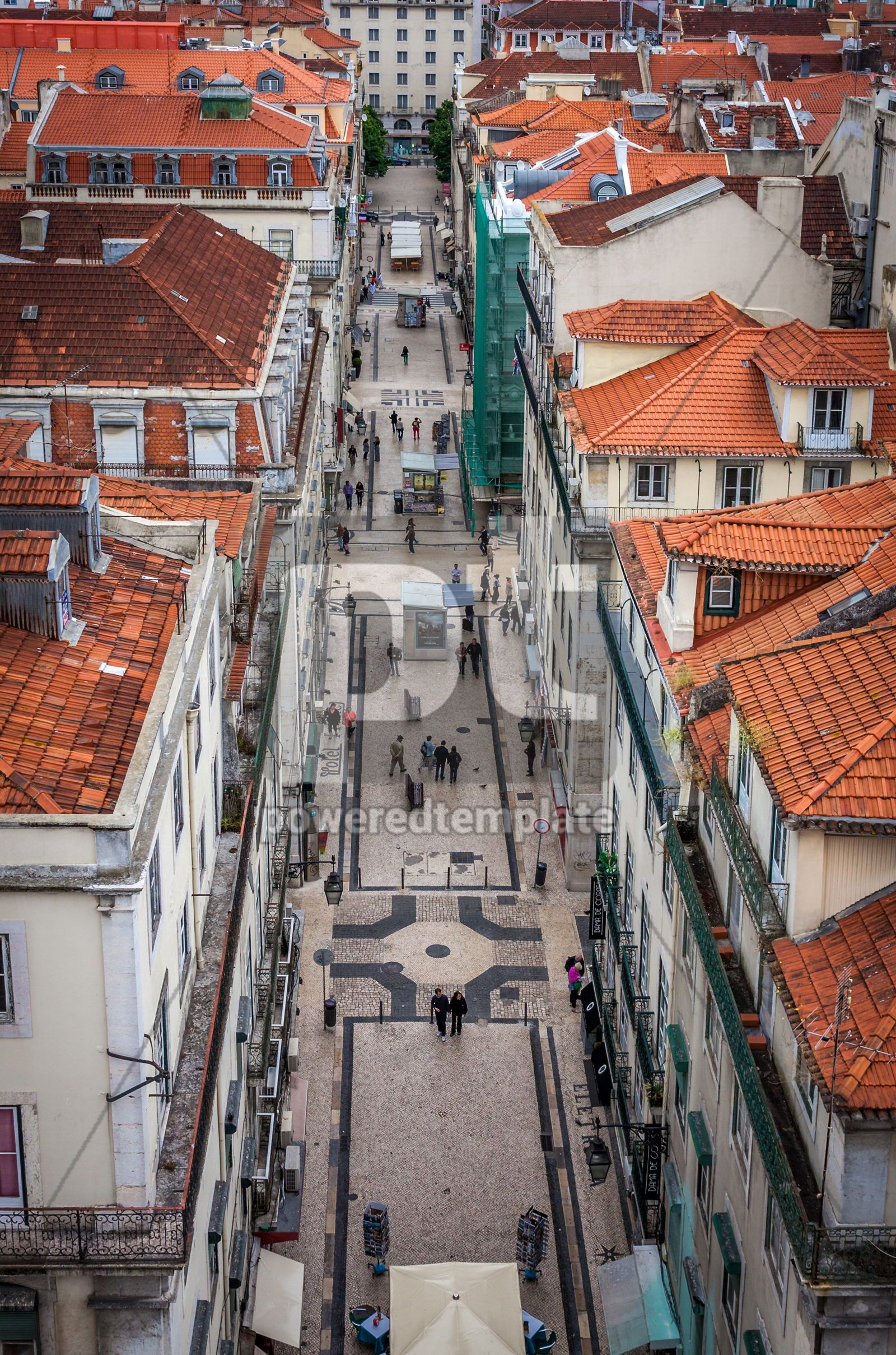 Aerial view of Lisbon old city Portugal, 16429, Architecture  — PoweredTemplate.com
