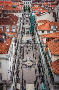 Architecture : Aerial view of Lisbon old city Portugal #16429