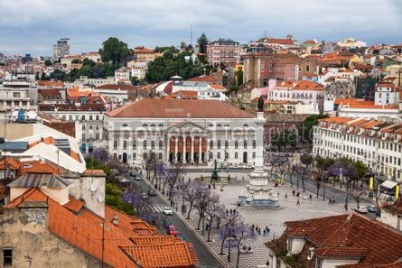 Architecture : Aerial view of Lisbon old city Portugal #16430