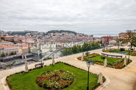 Architecture : Miradouro Sao Pedro de Alcantara viewpoint in Lisbon Portugal #16431