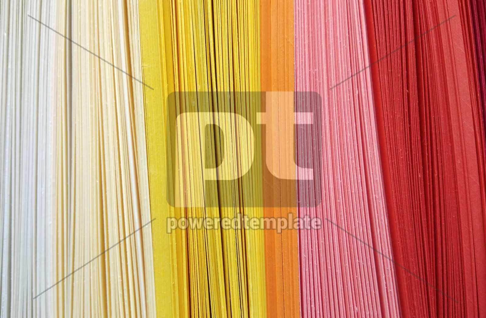 Abstract background made of colourful rows of papers, 16433, Abstract — PoweredTemplate.com