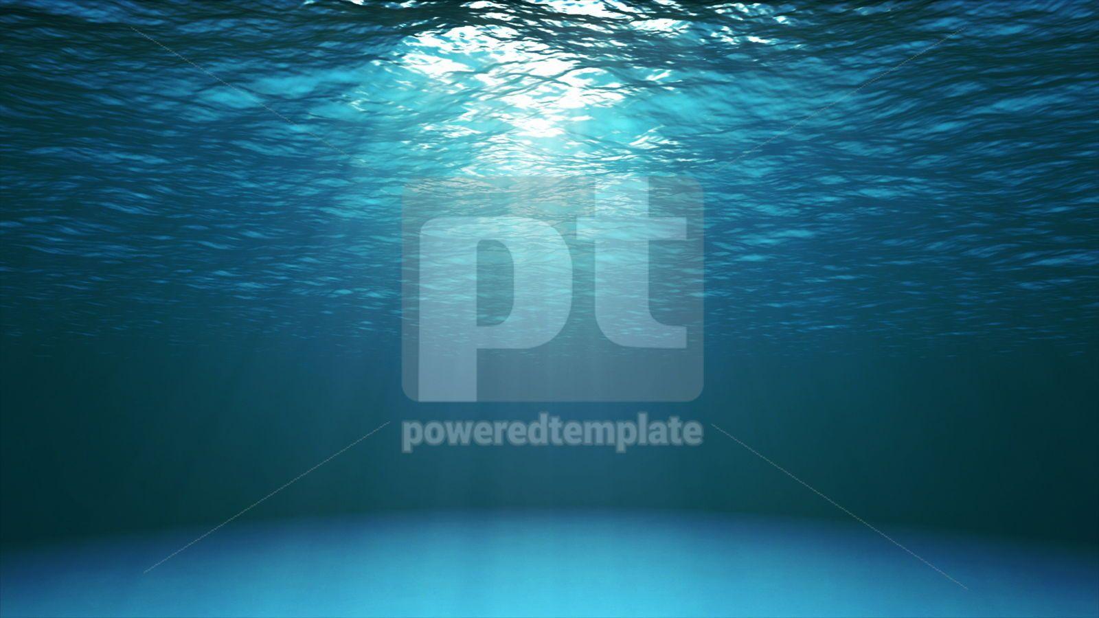 Dark blue ocean surface seen from underwater, 16435, Nature — PoweredTemplate.com