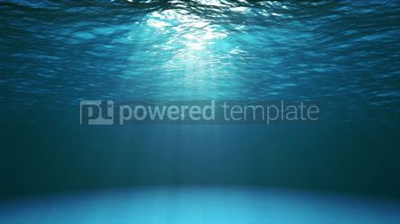 Nature: Dark blue ocean surface seen from underwater #16435