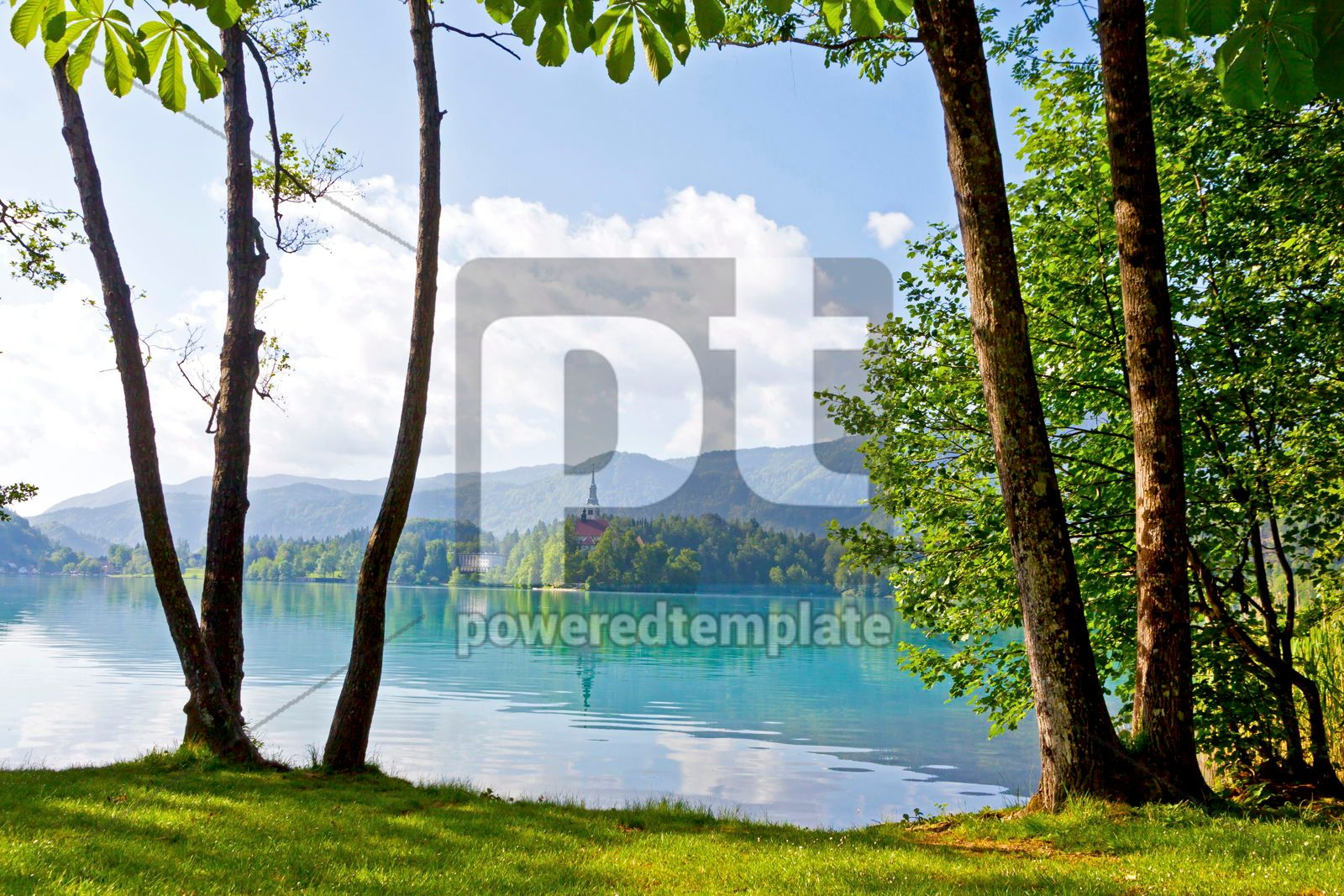 Bled island on Bled Lake Slovenia, 16439, Nature — PoweredTemplate.com