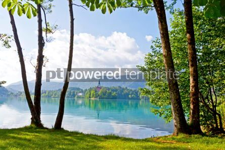 Nature: Bled island on Bled Lake Slovenia #16439
