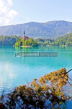 Nature: Bled island on Bled Lake Slovenia #16440