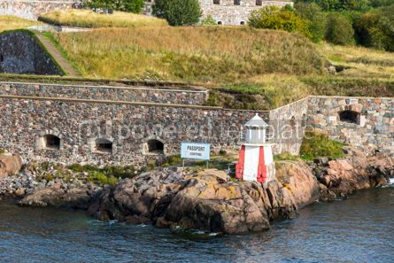 Architecture : Bastions of finnish fortress Suomenlinna in Helsinki Finland #16450
