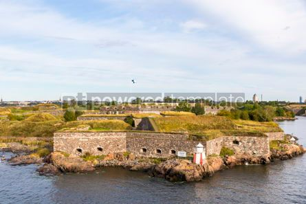 Architecture : Bastions of finnish fortress Suomenlinna in Helsinki Finland #16451