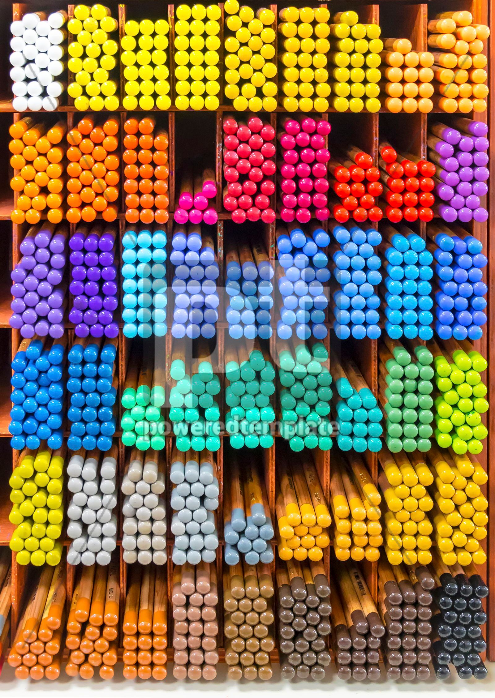 Colourful pieces of pastel chalks, 16457, Abstract — PoweredTemplate.com