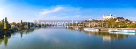 Arts & Entertainment: Panoramic view of Danube river in Bratislava Slovakia #16458