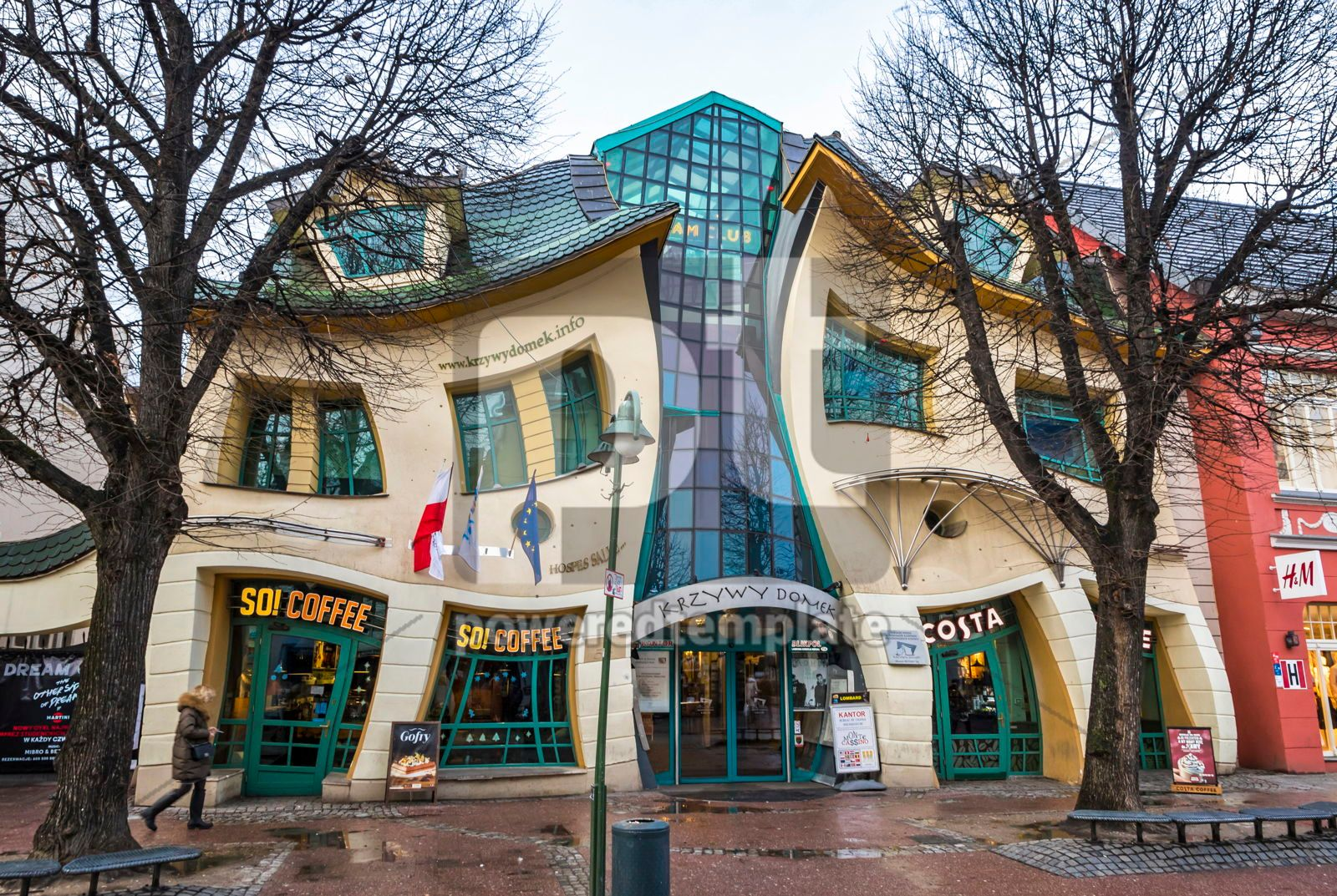 Crooked little house Krzywy Domek in Sopot Poland, 16460, Arts & Entertainment — PoweredTemplate.com