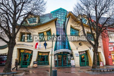 Arts & Entertainment: Crooked little house Krzywy Domek in Sopot Poland #16460