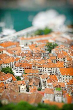 Architecture : Kotor old town Montenegro Tilt-shift Miniature Effect #16461