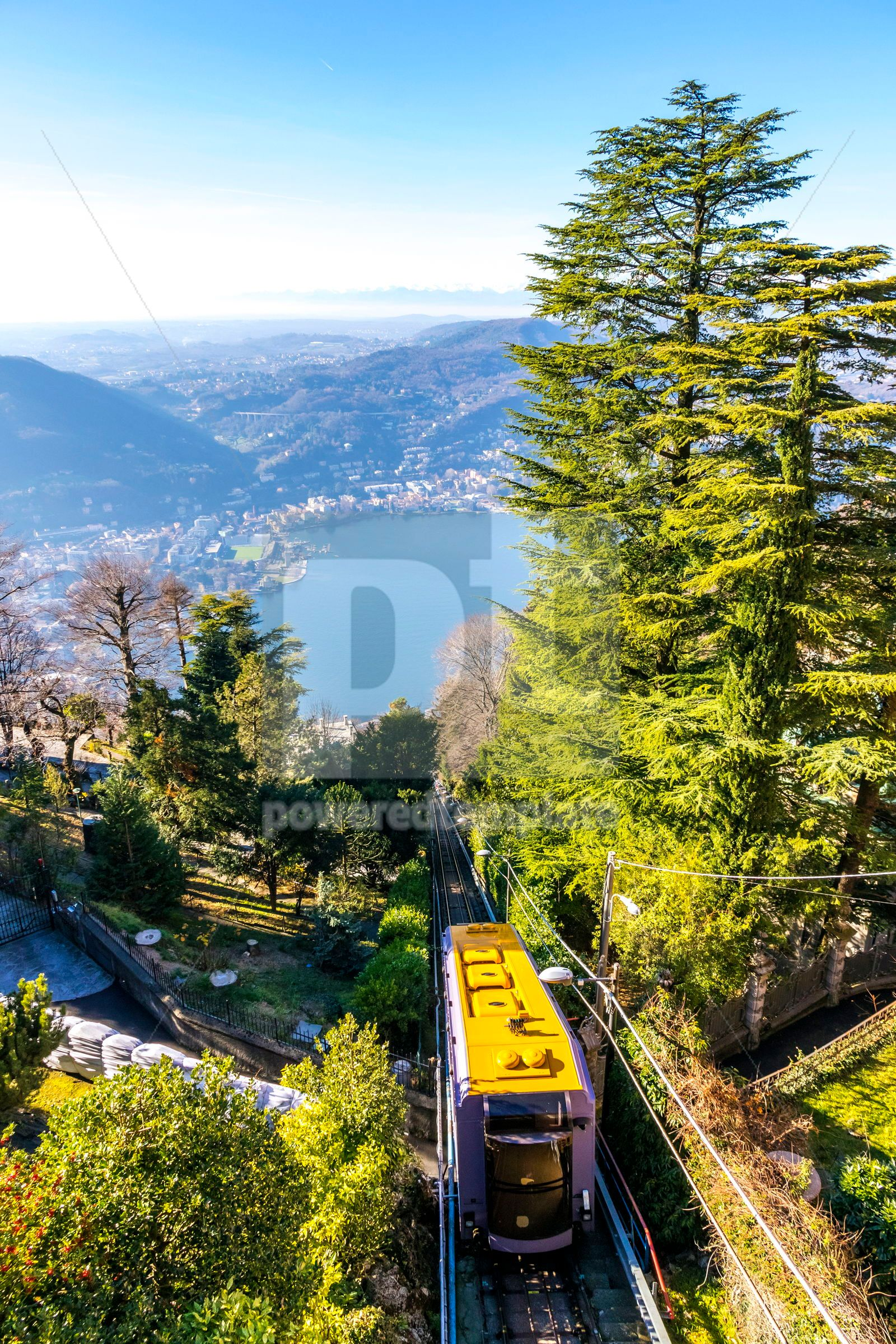 Como–Brunate funicular in Como Lombardy Italy, 16468, Nature — PoweredTemplate.com