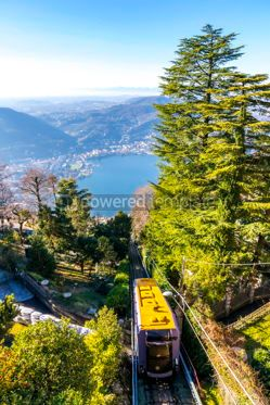 Nature: Como–Brunate funicular in Como Lombardy Italy #16468