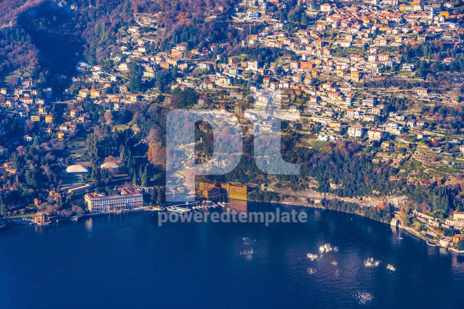 Winter view of Como Lake Como Lombardy Italy, 16469, Nature — PoweredTemplate.com