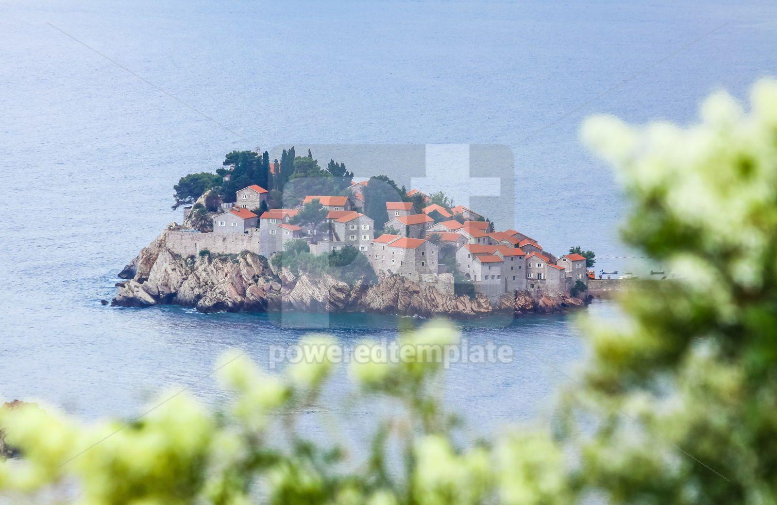 Sveti Stefan island Adriatic sea Montenegro, 16470, Arts & Entertainment — PoweredTemplate.com