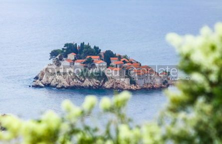 Arts & Entertainment: Sveti Stefan island Adriatic sea Montenegro #16470