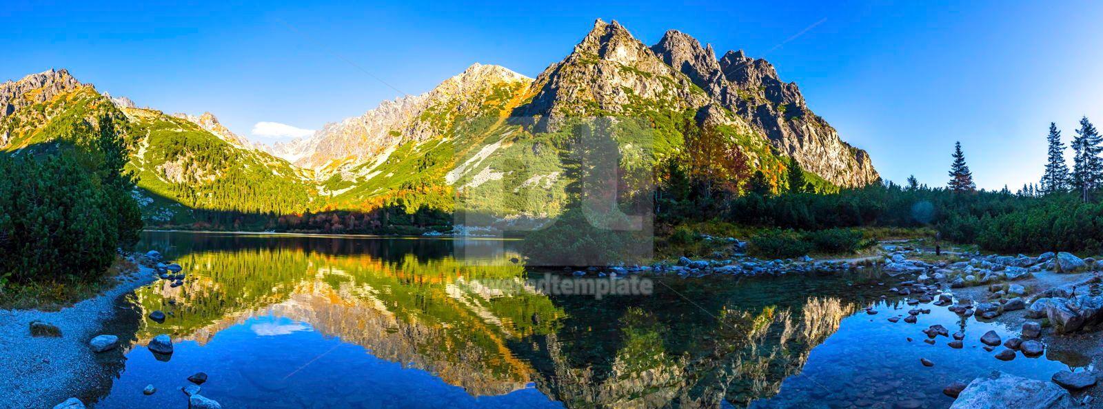 Lake Popradske pleso in High Tatras Slovakia, 16473, Nature — PoweredTemplate.com