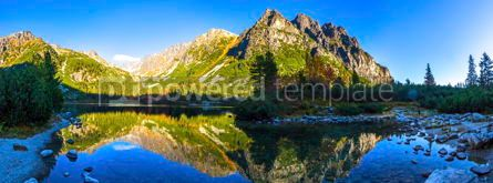 Nature: Lake Popradske pleso in High Tatras Slovakia #16473