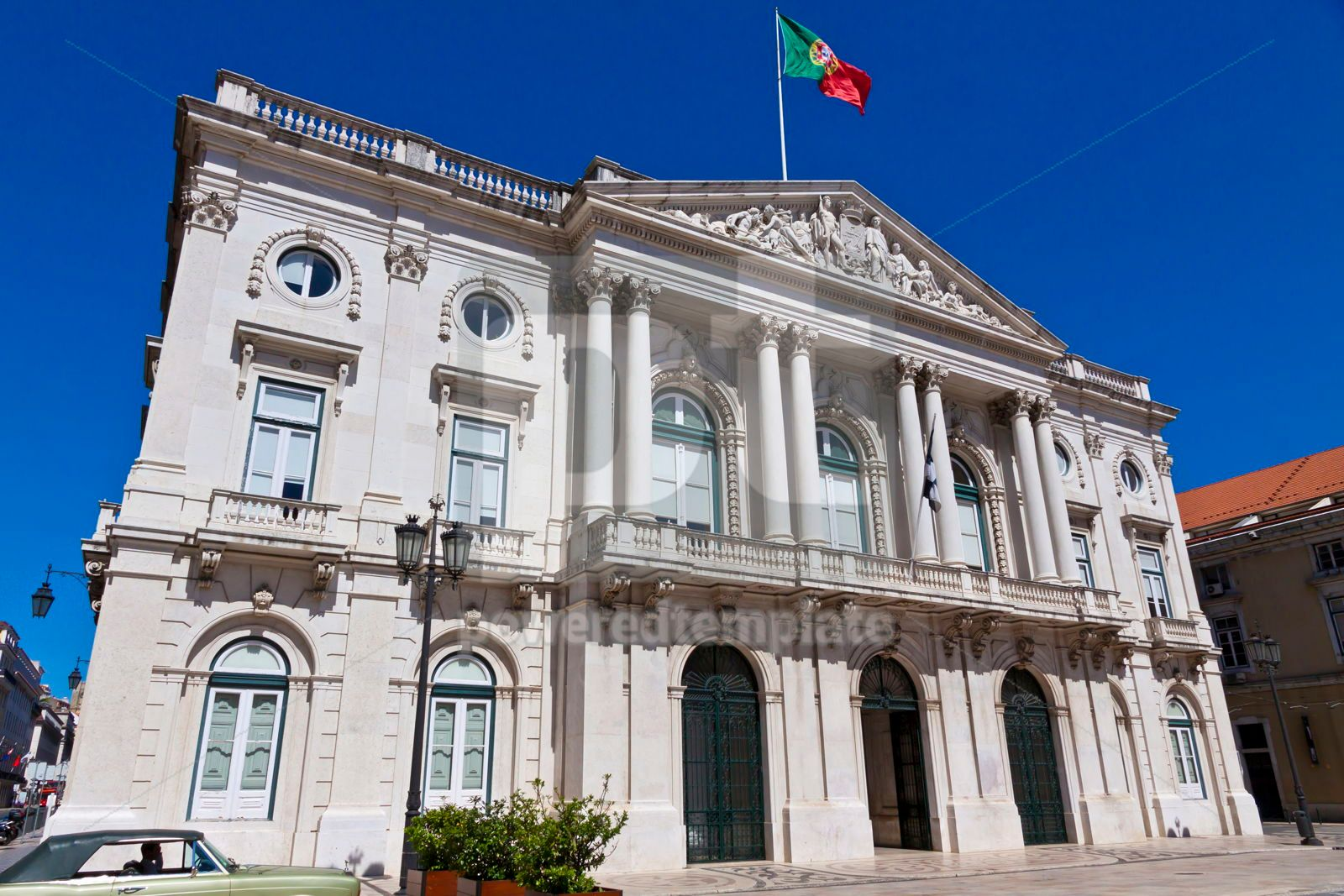 City Hall building Camara Municipal in Lisbon Portugal, 16475, Architecture  — PoweredTemplate.com