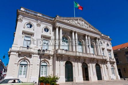Architecture : City Hall building Camara Municipal in Lisbon Portugal #16475