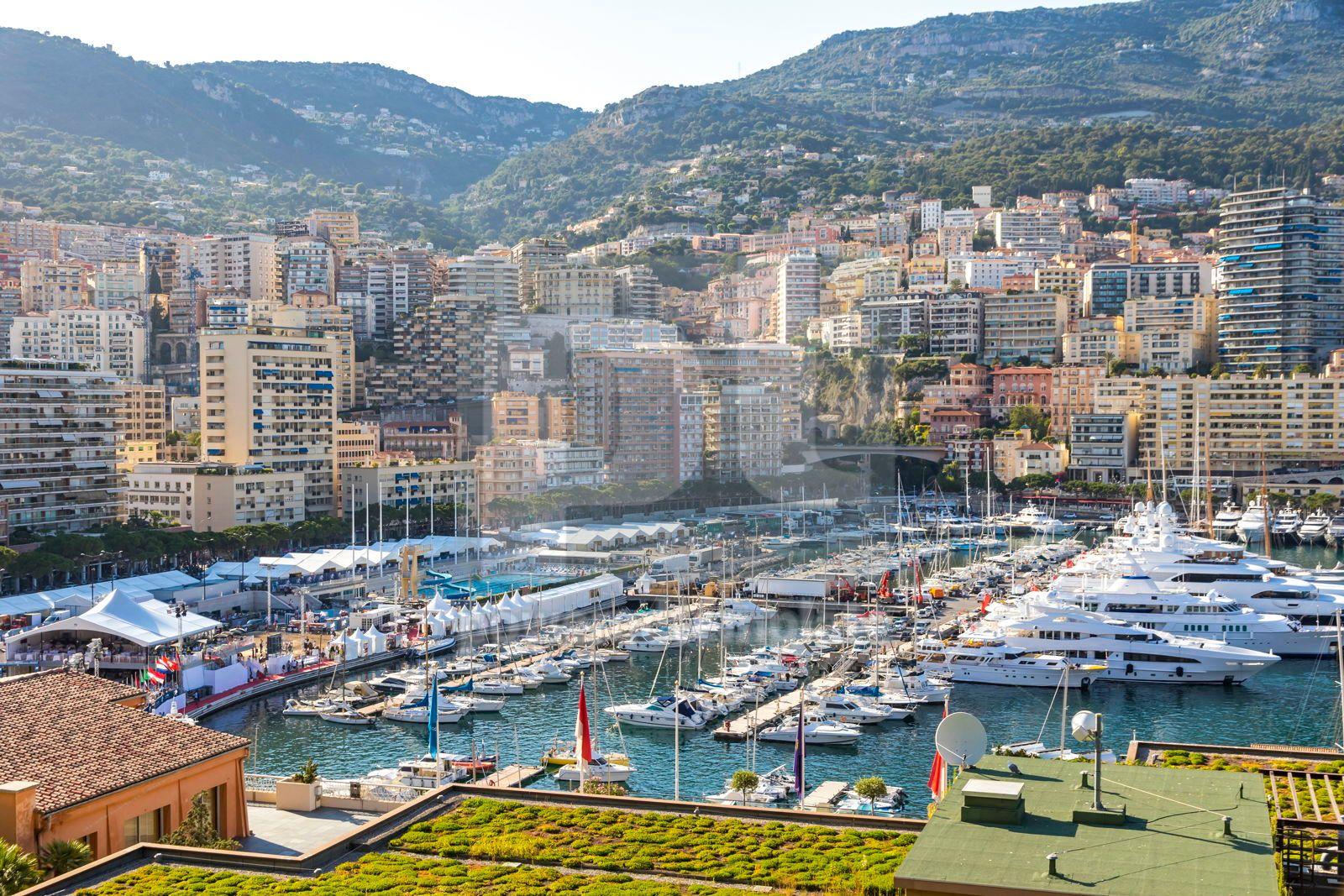 City of Monte Carlo skyline view Monaco French Riviera, 16477, Architecture  — PoweredTemplate.com