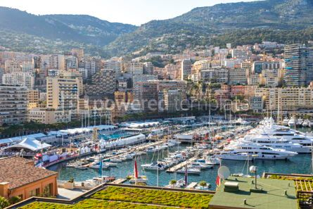 Architecture : City of Monte Carlo skyline view Monaco French Riviera #16477