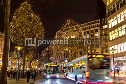 Architecture : Monckebergstrasse one of the main shopping streets in Hamburg Germany #16478