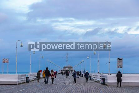 People: Sopot Pier Molo in the city of Sopot Poland #16481