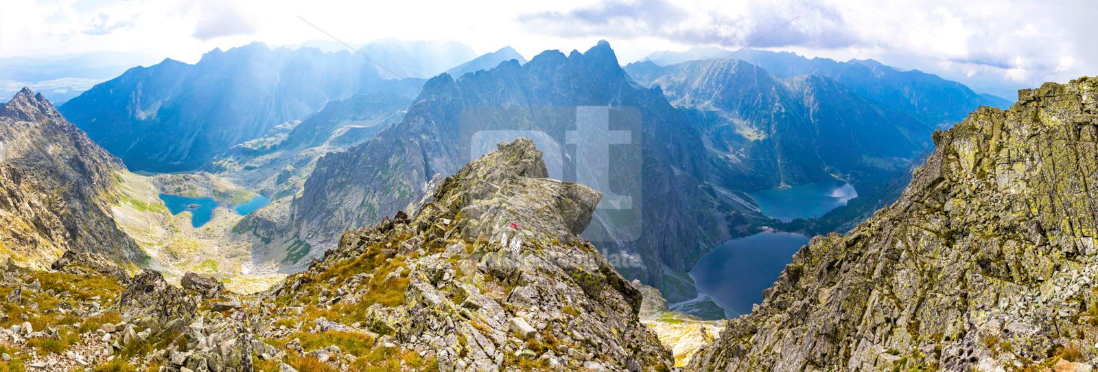 Panorama of High Tatras mountains View from mount Rysy, 16485, Nature — PoweredTemplate.com