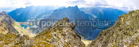 Nature: Panorama of High Tatras mountains View from mount Rysy #16485