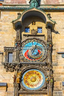 Architecture : Astronomical Clock in Prague Czech Republic #16489
