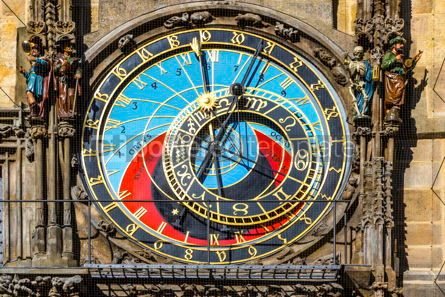 Architecture : Astronomical Clock in Prague Czech Republic #16490
