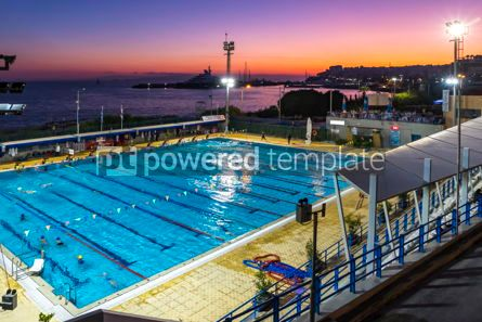 Sports : Municipal swimming pools in Piraeus Athens Greece #16506