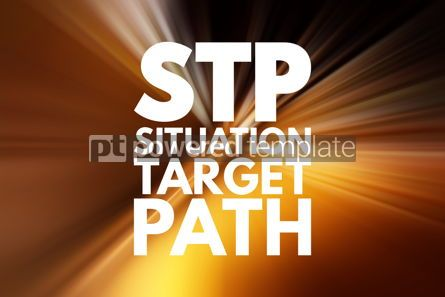 Business: STP - Situation Target Path acronym business concept background #16518