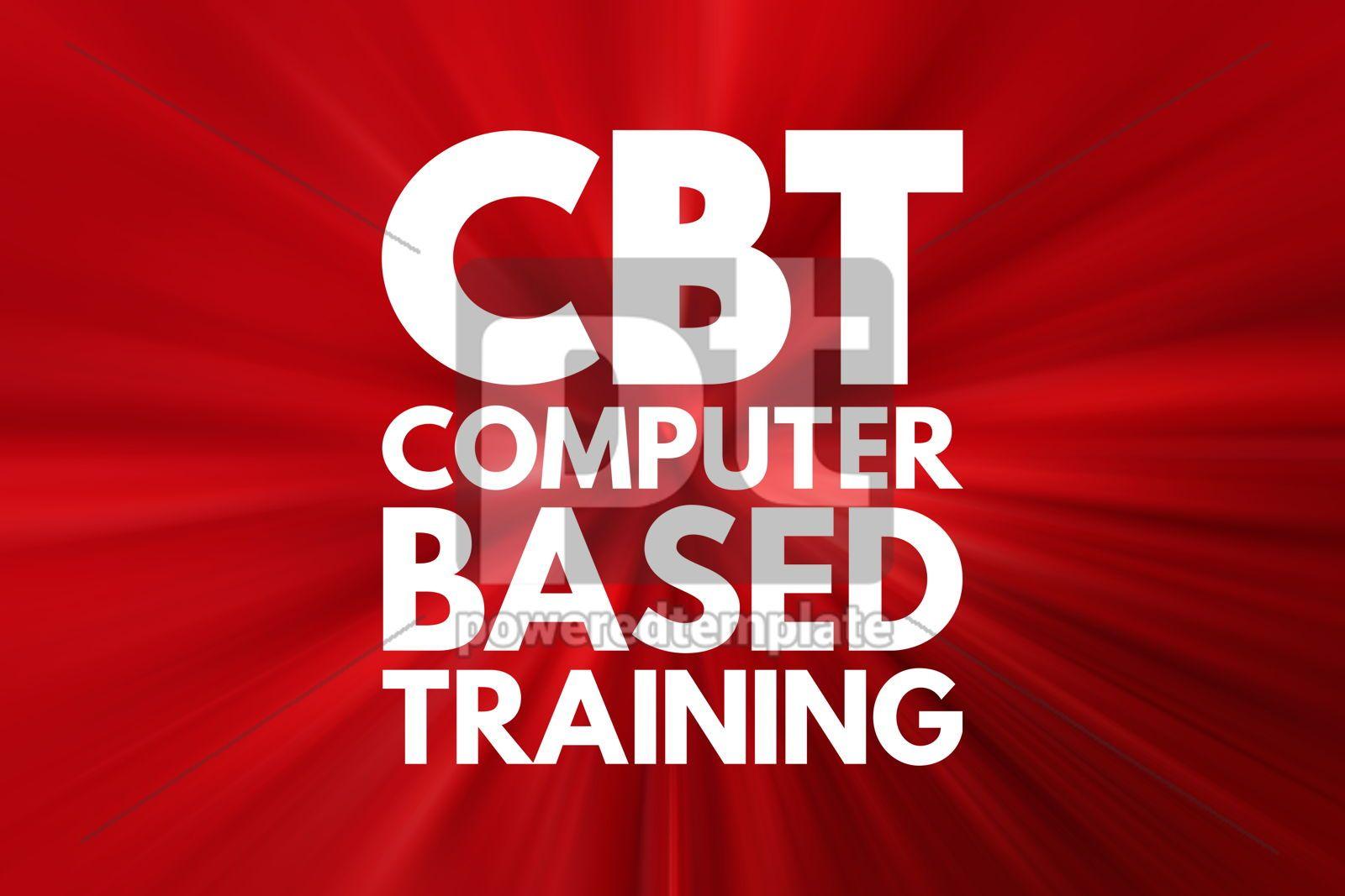 CBT - Computer Based Training acronym education concept backgro, 16522, Business — PoweredTemplate.com