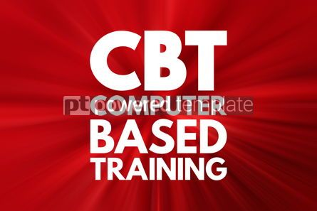 Business: CBT - Computer Based Training acronym education concept backgro #16522