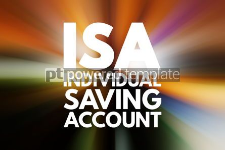 Business: ISA - Individual Saving Account acronym business concept backgr #16523