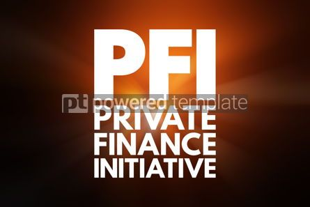Business: PFI - Private Finance Initiative acronym business concept backg #16524