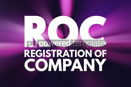Business: ROC - Registration Of Company acronym business concept backgrou #16525