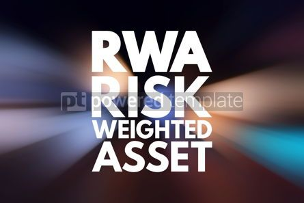 Business: RWA - Risk Weighted Asset acronym business concept background #16526