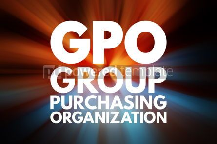 Business: GPO - Group Purchasing Organization acronym business concept ba #16529