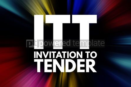 Business: ITT - Invitation To Tender acronym business concept background #16543