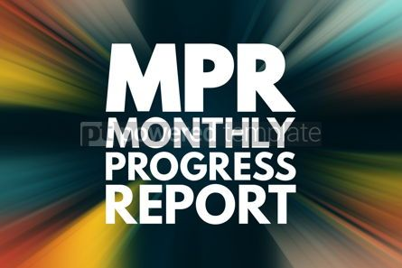 Business: MPR - Monthly Progress Report acronym business concept backgrou #16546