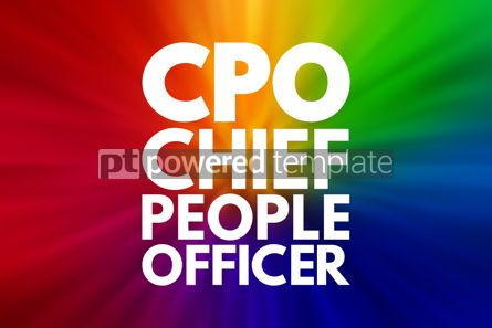 Business: CPO - Chief People Officer acronym business concept background #16547