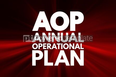 Business: AOP - Annual Operational Plan acronym business concept backgrou #16550