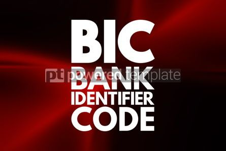 Business: BIC - Bank Identifier Code acronym business concept background #16551