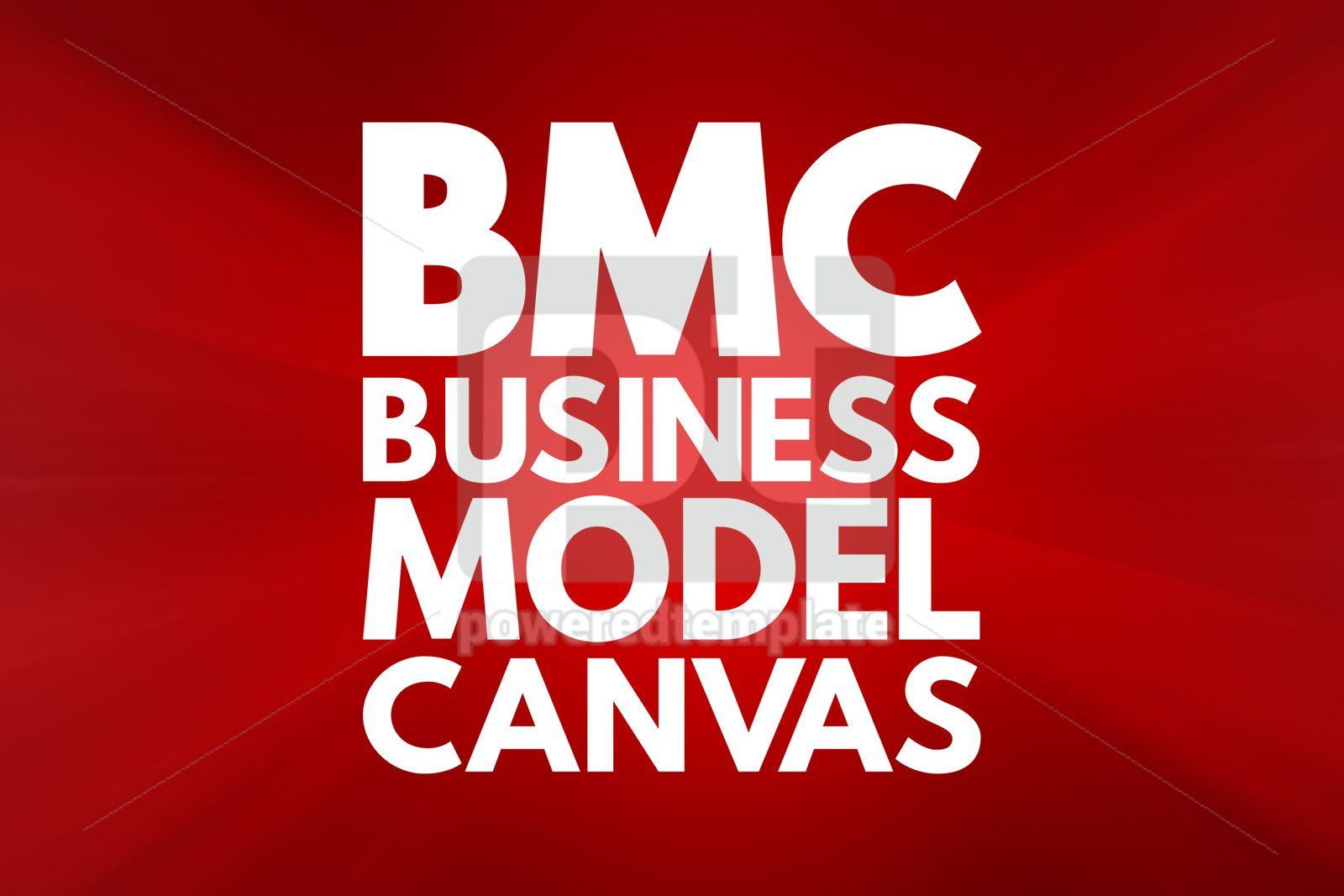 BMC - Business Model Canvas acronym business concept background, 16553, Business — PoweredTemplate.com