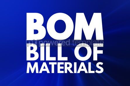 Business: BOM - Bill Of Materials acronym business concept background #16554